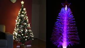arboles de navidad de fibra optica