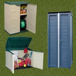 Armarios de jardin para deposito de articulos for Armario plastico jardin
