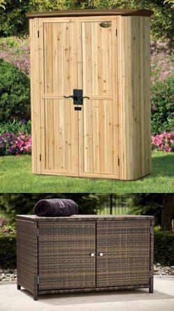 exterior armarios madera jardin