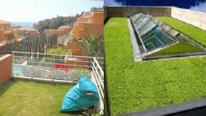 Cesped natural en terrazas - Cesped en terraza ...