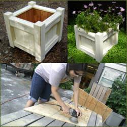 como construir macetas de madera
