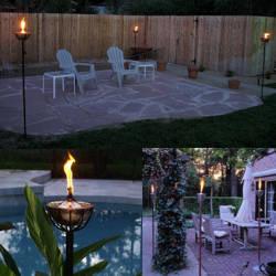 Decoracion de jardin con antorchas esteticas y ornamentales for Antorchas para jardin