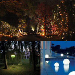 decoracion del jardin con luces
