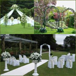 Decoracion de jardin para boda estetica y ornamentacion for Bodas sencillas en jardin