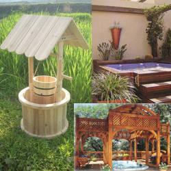 decoracion de jardines con madera