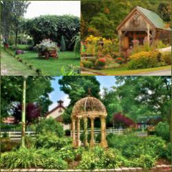 Decoracion de jardines rusticos embellecimiento de parques y patios for Juegos de jardin rusticos