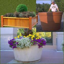 Maceteros grandes exterior consejos de decoracin con for Jardineras para arboles grandes