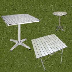 Mesas de aluminio para jardin inoxidables y livianas for Aluminio productos de fundicion muebles de jardin