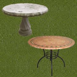 Mesas de jardin de piedra en diferentes rocas - Mesas de piedra para exterior ...