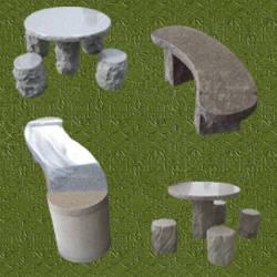 tableros de todo tipo de roca para el jardin with mesas de jardin de piedra