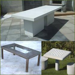 Mesas para jardin de concreto economicas y resistentes - Mesa de jardin ...
