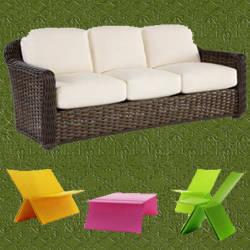 sillones de fibra sintetica para jardin