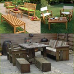 Muebles de jardin de madera en diferentes maderas - Muebles de madera de jardin ...