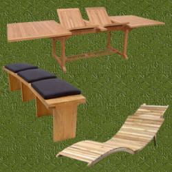 Muebles de jardin de teca duraderos y resistentes - Muebles teka jardin ...