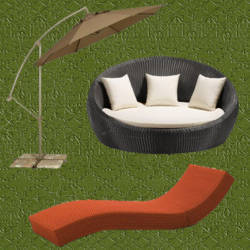 Sombrillas de jardin sombrilla jardin papillon hexagonal for Reposeras para terrazas