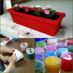 como decorar macetas plasticas