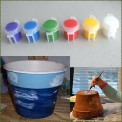 Pintar macetas de plastico sistemas de decoracion - Macetas de plastico ...