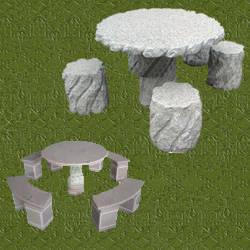 Mesas de jardin de piedra mesa jardin piedra foto mesa - Mesas de piedra para jardin ...