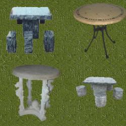 Mesas de jardin de piedra juego de bancos y mesa de jardn for Mesas de piedra para jardin