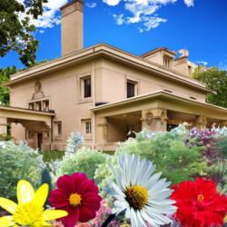 jardines floreados