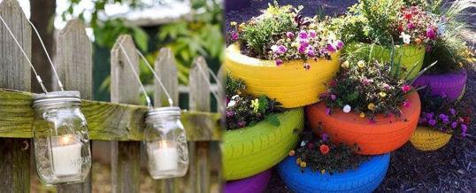 decorar el jardín con poco dinero