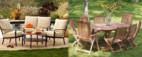 materiales para muebles de jardín