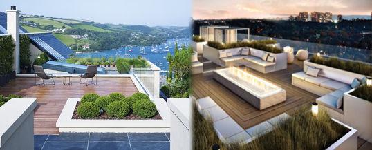decorar una terraza minimalista