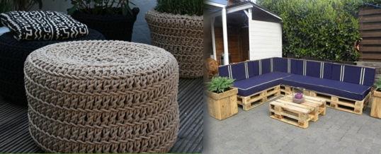 muebles caseros para el jardín