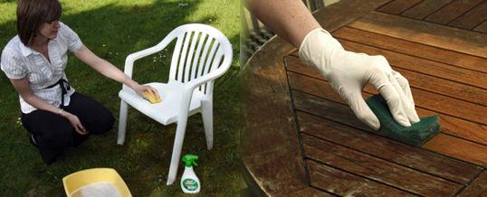 renovar los muebles de jardín